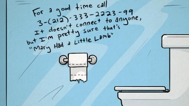 sparklife ingenious bathroom graffiti