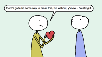 Auntie SparkNotes: We're Breaking Up; How Do We Stay Friends?