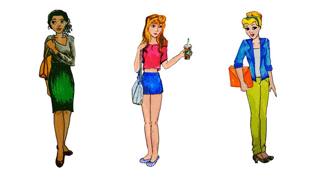 If the Disney Princesses Went to College...