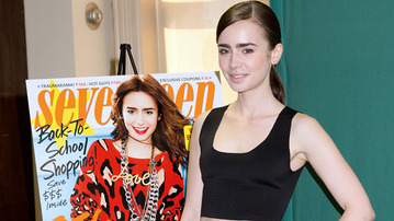 Lily Collins Visits B&N to Promote <i>The Mortal Instruments</i> Movie!