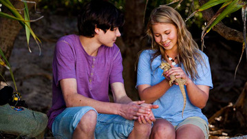 EXCLUSIVE Behind-the-Scenes Footage of Bindi Irwin in Return to Nim's Island!