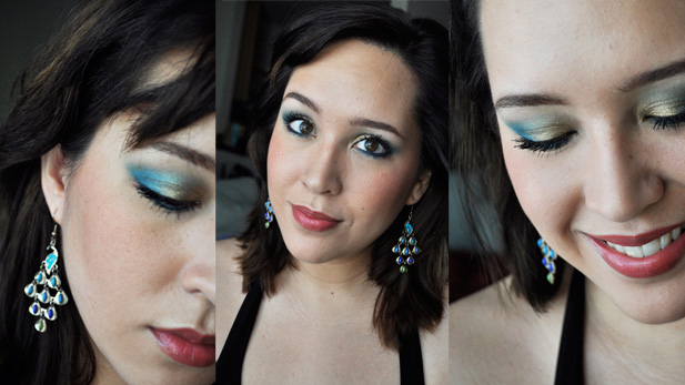 Prom Makeup: Peacock Blue