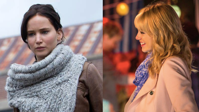 From Katniss' Cowl to Gwen Stacey's Coats, These Are The Hottest Winter Looks on Film!