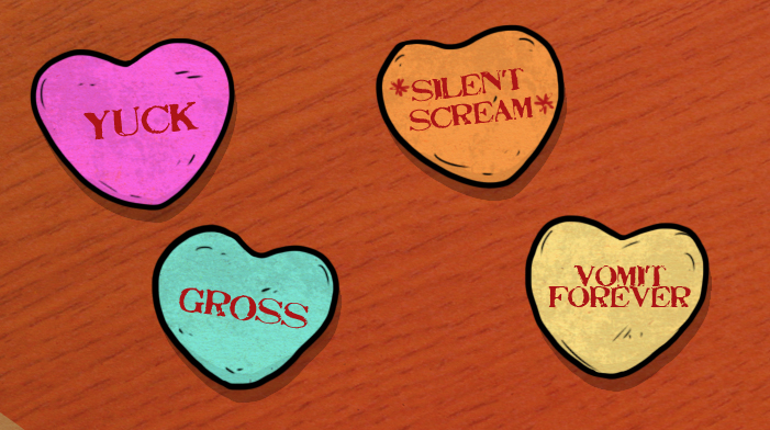 Rejected Candy Hearts