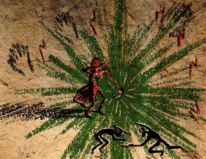 The Harry Potter Legend, as Foretold in Cave Painting