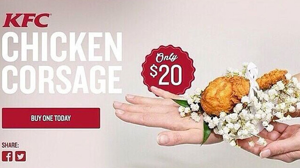 A Guide to Asking Someone to Prom With the KFC Chicken Corsage