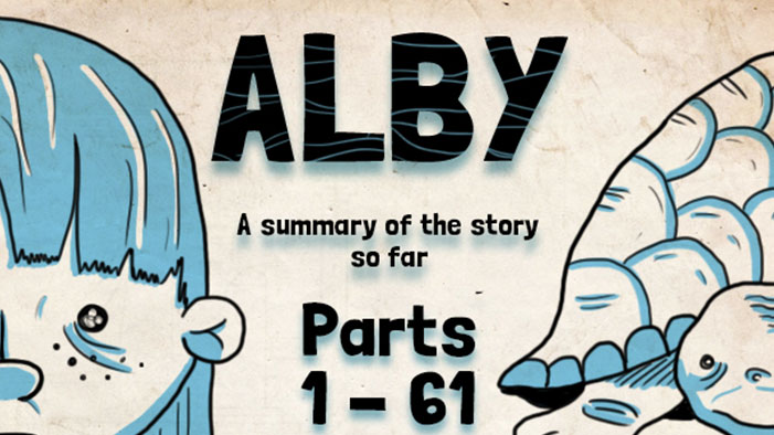 A Complete Summary of Alby, a Choose Your Own Adventure Story!