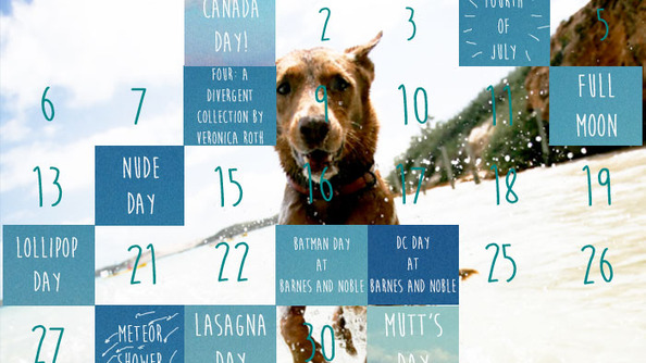 Your July Summer Calendar, Now With Extra Fours!