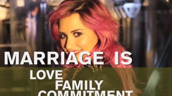 Demi Lovato Speaks Out for Marriage Equality; Has Amazing Pink Hair