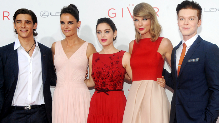 TSweezy and <em>The Giver</em> Gang Coordinated Their Outfits at the NY Premiere!