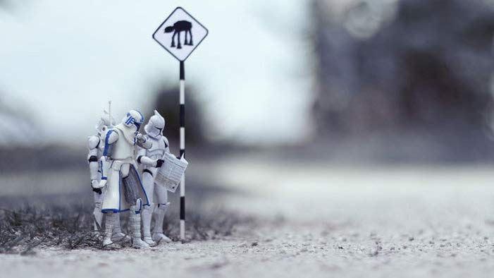 Star Wars Action Figures in Real Life Situations
