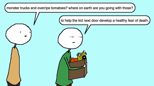 Auntie SparkNotes: I'm Afraid My Little Neighbor Is Going to Get Squished by a Car