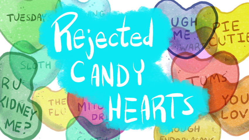 Rejected Candy Hearts of 2016