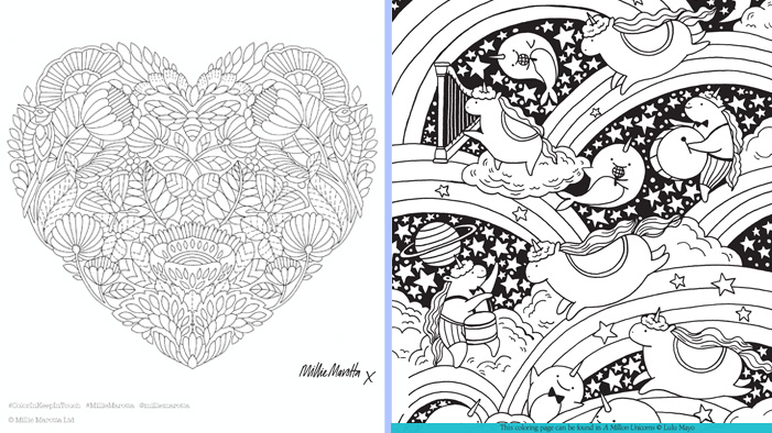 Take A Break With These Adorable Free Coloring Sheets