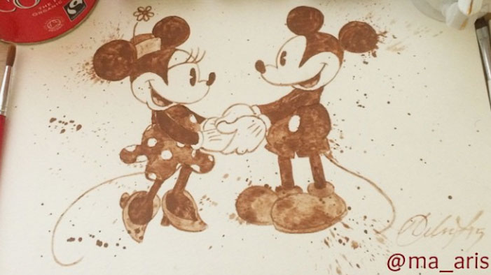 Coffee Paintings Of Your Favorite Disney And Star Wars Characters!