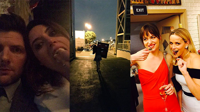Everyone Went to the Oscars + The End of Glee & Parks in this Week's Celebrity Twitter Roundup!