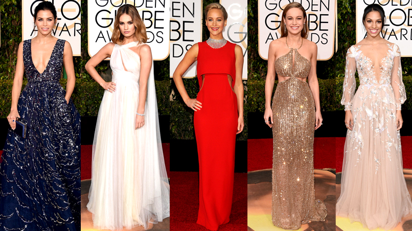 Glitter Bombs & Ab Cut-Outs Abound at the 2016 Golden Globes!