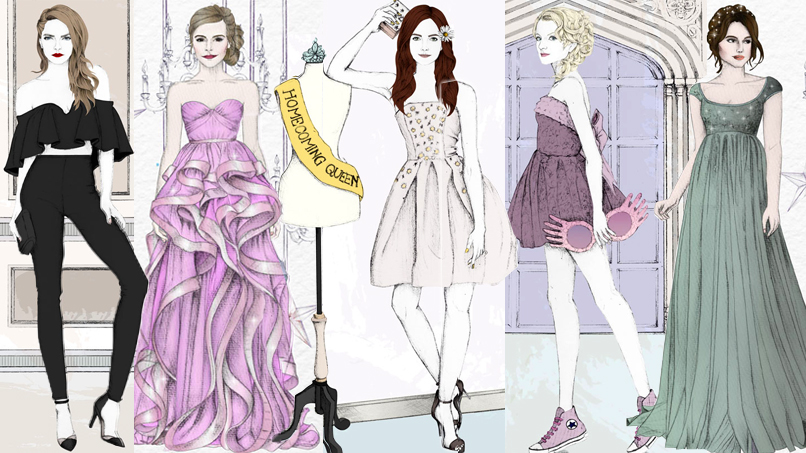 Hermione, Hazel Grace, & 18 More of Our Fave Fictional Heroines in Gorgeous Prom Gowns