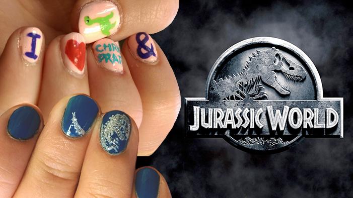 Jurassic World Nail Art SCIENTIFICALLY ENGINEERED to Win Chris Pratt's Love