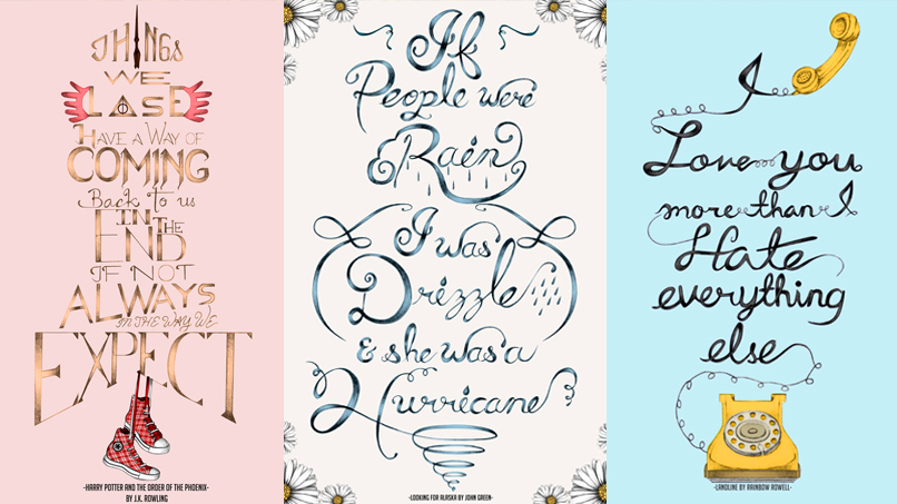 """Love Is Just a Shout Into the Void"": Karen Edina Illustrates Our Fave Quotes by JK Rowling, John Green, & More!"