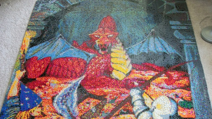 An Amazing Dungeons & Dragons Lego Mural in This Week's Geeky Twitter!