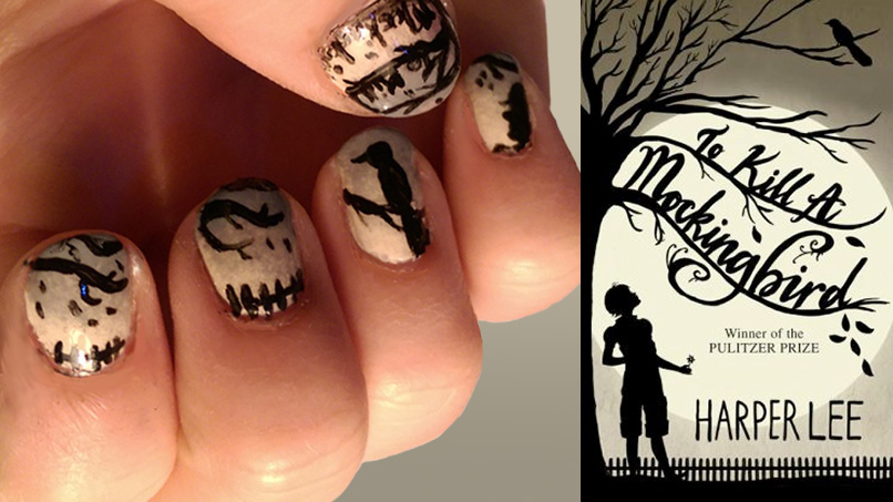 ATTENTION ALL HARDCORE HARPER LEE FANS: Here's a Step-by-Step Guide to Getting Scout Finch-Approved Nail Art!