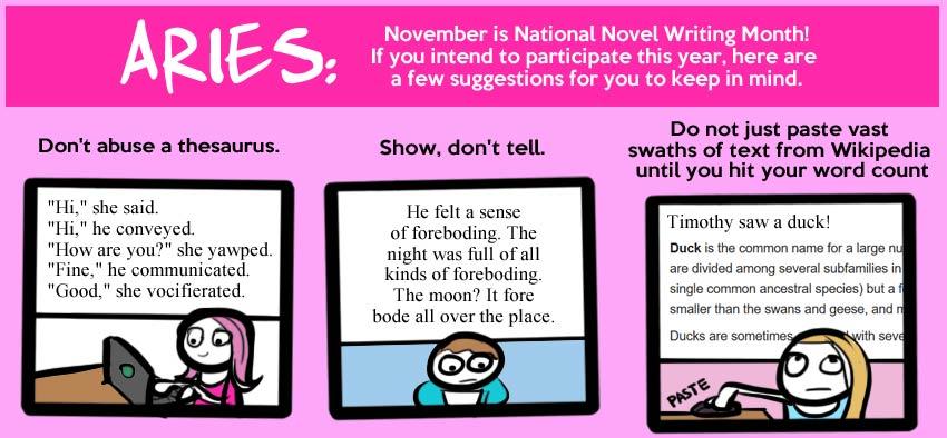 November Horoscopes!