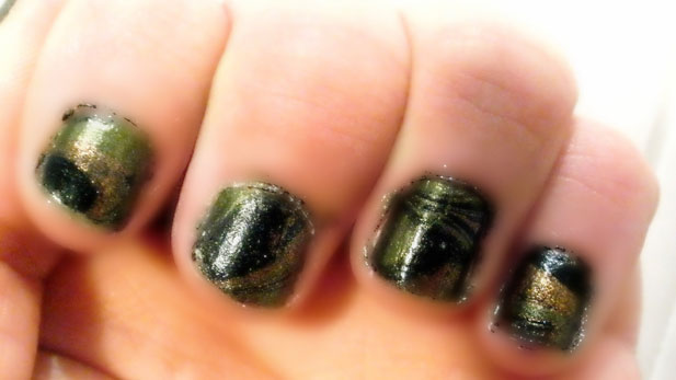 Hunger Games Nail Art Tutorial
