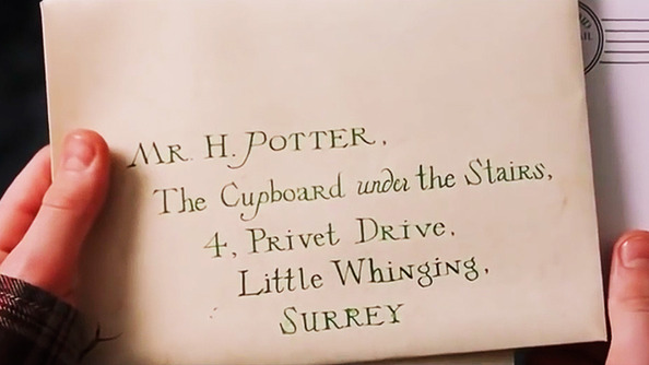 A Much More Accurate Hogwarts Letter