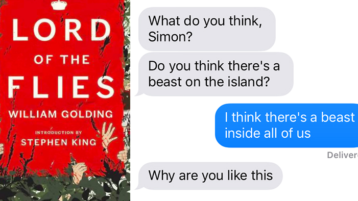 <em>Lord of the Flies</em>, As Told in a Series of Texts