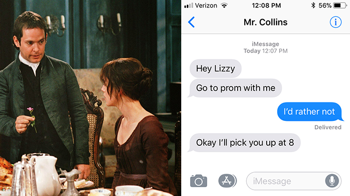 How Fictional Characters Would Ask You to Prom Over Text