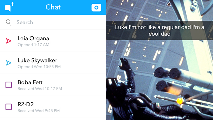 Snapchats from Star Wars