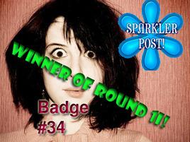 Choose Your Sparkler Post Badge: Round 1J