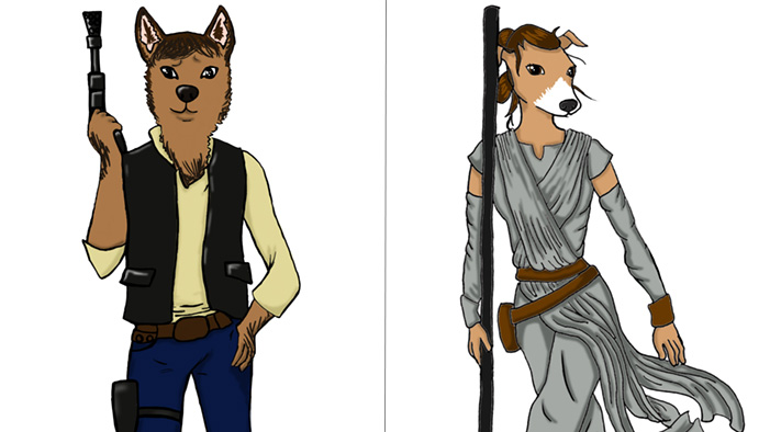 Bark Wars! Your New Fav Star Wars Characters with Puppy Faces
