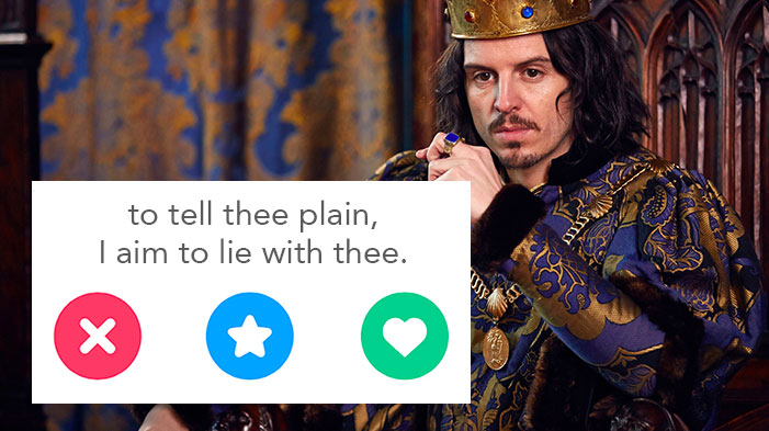 Shakespeare Quotes That Would Make Great Tinder Bios