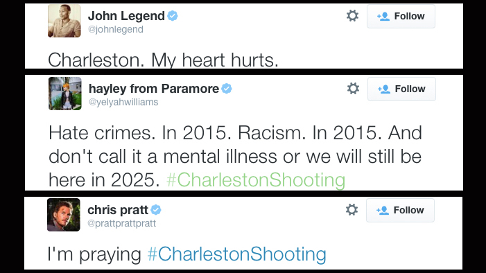 Celebrities React to the Devastating Attack in Charleston