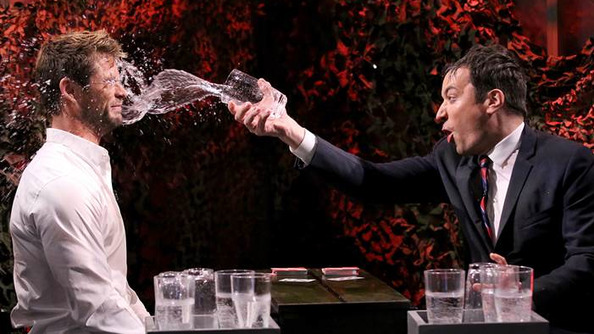 Chris Hemsworth Falls Victim to One of the Classic Blunders: Never Get Involved in a Water War on Jimmy Fallon's Show