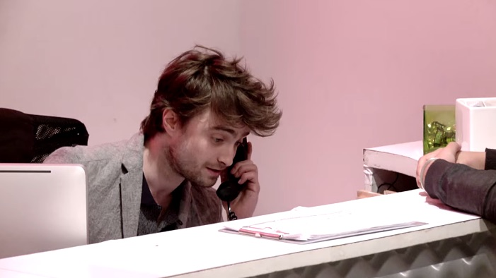 Here's What Happened When Daniel Radcliffe Tried Being a Receptionist