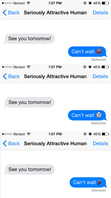 Flirty emoji texts