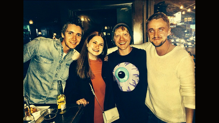 Tom Felton Hangs Out with the Weasleys, Rescues a Puppy, & Is Basically the Anti-Draco