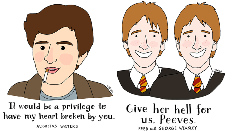"""Give Her Hell For Us, Peeves"": 8 Iconic Lines By Our Fave Fictional Characters!"