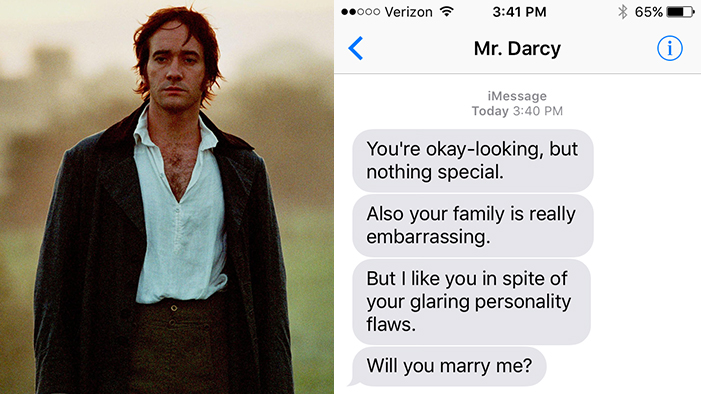 If Literature's Biggest Romantics Could Text