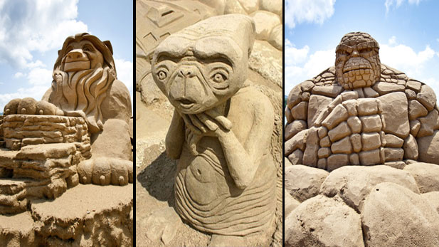 The Geekiest Sand Castles Ever 
