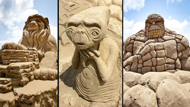 The Geekiest Sand Castles Ever