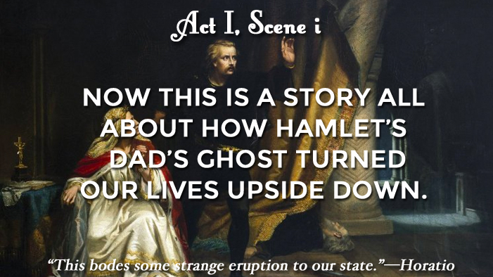 Every Scene of <i>Hamlet</I> Summed Up in a Single Sentence