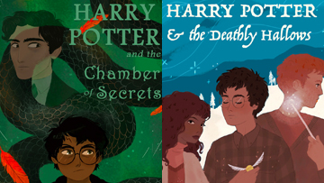 today s most popular study guides the harry potter book covers reimagined by 7 of our favorite illustrators