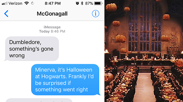 Texts from Inside Hogwarts (Halloween Edition)