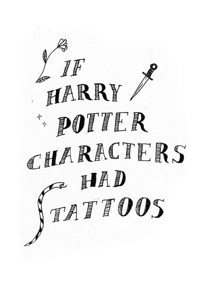 If Harry Potter Characters Had Tattoos, Part 2