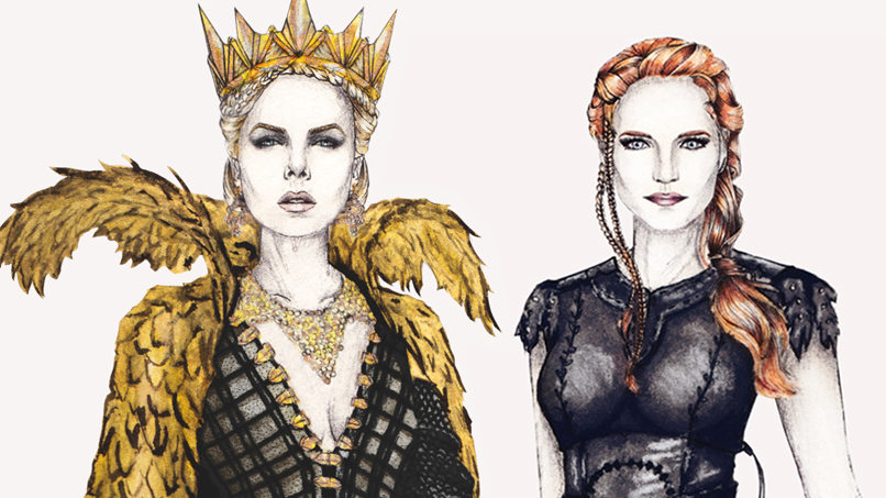 Prepare to #BOWDOWN to these Stunning <em>The Huntsman: Winter's War</em> Illustrations