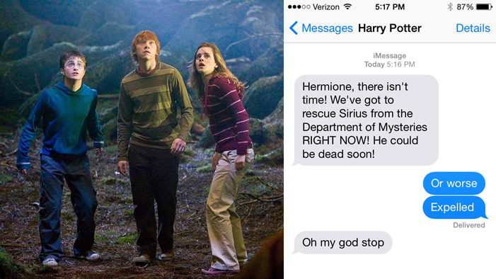 You've Been Waiting Your Whole Life for this Slideshow: It's...TEXTS FROM INSIDE HOGWARTS